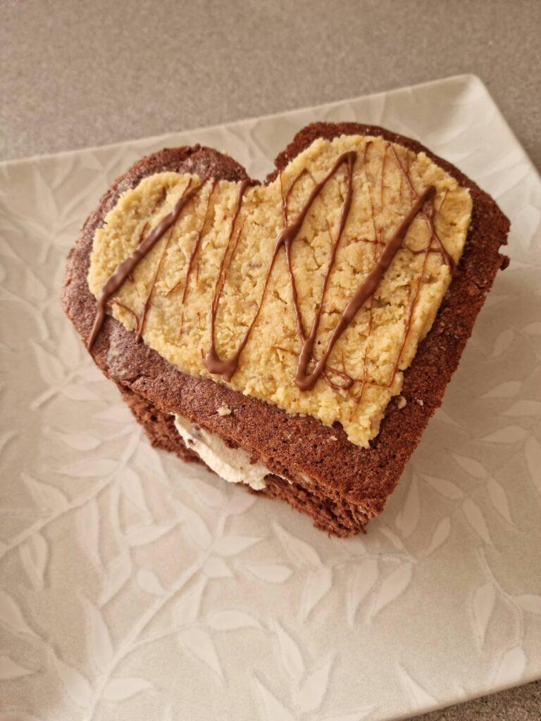 Tarta de san Valentín Keto